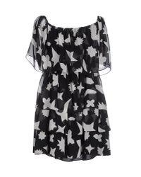 Saint Laurent   Black Short Dress   Lyst