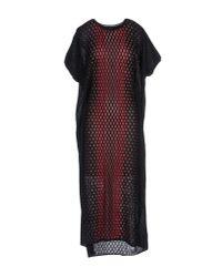 M Missoni - Red 3/4 Length Dress - Lyst