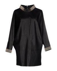 Saint Laurent - Black Short Dress - Lyst