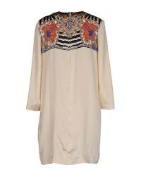 Just Cavalli - Natural Short Dress - Lyst