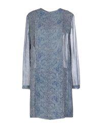 Tory Burch | Blue Pleated Silk Dress | Lyst
