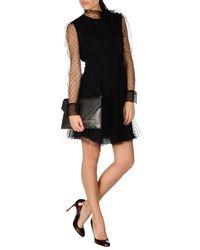 RED Valentino | Black Short Dress | Lyst
