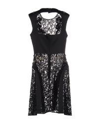 Alberta Ferretti - Black Short Dress - Lyst