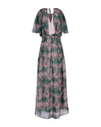 MSGM - Green Long Dress - Lyst