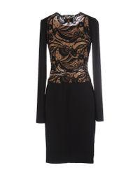 Emilio Pucci | Black Embroidered Bodice Dress | Lyst