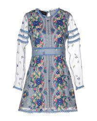 Sretsis Blue Short Dress