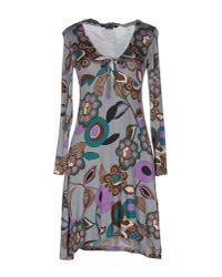 Entre Amis Gray Short Dress