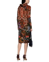 Etro - Brown Knee-length Dress - Lyst