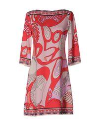 Ali Ro Blue Three Quarter Sleeve Jersey Dress Mint 8