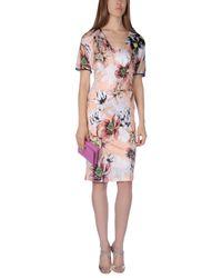 Blumarine - Multicolor Knee-length Dress - Lyst