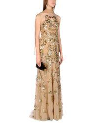 Zuhair Murad Natural Long Beaded Tulle Dress