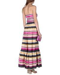 Ferragamo - White Long Dress - Lyst