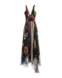 Dondup | Black Long Dress | Lyst