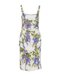 Dolce & Gabbana | White Knee-length Dress | Lyst