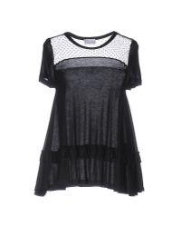 RED Valentino | Black T-shirt | Lyst