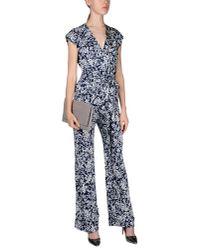 Diane von Furstenberg Blue Jumpsuit