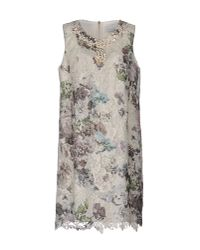 Paolo Petrone Natural Short Dress