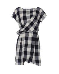 Aglini Blue Short Dress