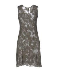 Almeria Gray Short Dress
