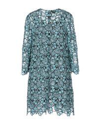 Emanuel Ungaro - Blue Short Dress - Lyst