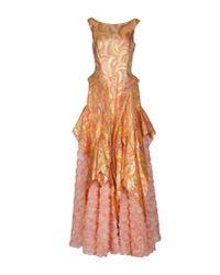Io Couture - Orange Long Dress - Lyst