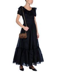 Saint Laurent - Black Long Dress - Lyst