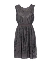Bolongaro Trevor | Gray Short Dress | Lyst