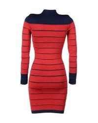 Balmain Red Short Dress