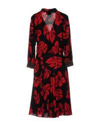 Prada - Red Knee-length Dress - Lyst