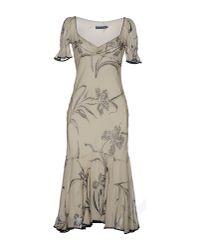 Ralph Lauren   Natural 3/4 Length Dress   Lyst
