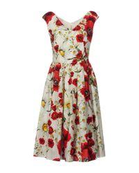 Dolce & Gabbana | Red Knee-length Dress | Lyst
