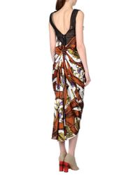 AQUILANO.RIMONDI - Brown 3/4 Length Dress - Lyst