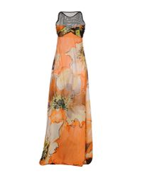 Fisico - Orange Long Dress - Lyst
