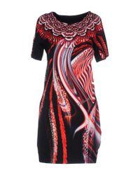 Just Cavalli   Red Short Dress   Lyst