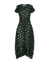 M Missoni - Green Knee-length Dress - Lyst