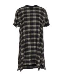 Proenza Schouler Gray Short Dress