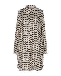 0039 Italy - Natural Short Dress - Lyst