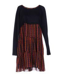 Trussardi - Blue Short Dress - Lyst