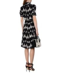 Altuzarra - Black Short-sleeve Belted Ikat-print Shirtdress - Lyst