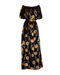 Rochas Black Long Dress