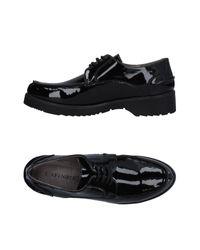 CafeNoir Black Lace-up Shoe