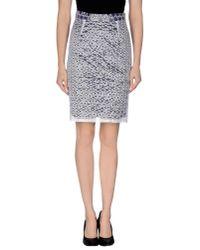 Related - White Knee Length Skirt - Lyst