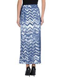 Simeon Farrar   Blue 3/4 Length Skirt   Lyst