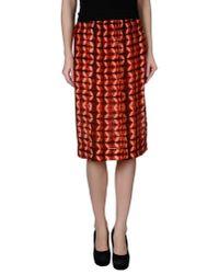 Gat Rimon - Red Knee Length Skirt - Lyst
