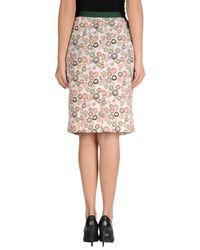 Siyu - White Knee Length Skirt - Lyst