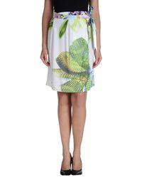 Just Cavalli - Green Knee Length Skirt - Lyst