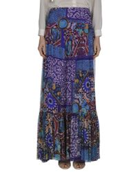 Blumarine - Blue Long Skirt - Lyst