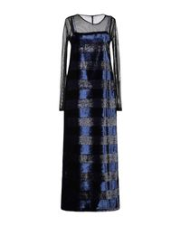 Imperial Blue 3/4 Length Dress