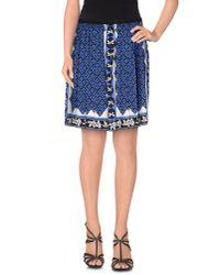AQUILANO.RIMONDI - Blue Knee Length Skirt - Lyst