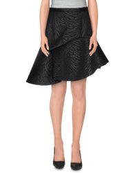 MSGM - Black Mini Skirt - Lyst
